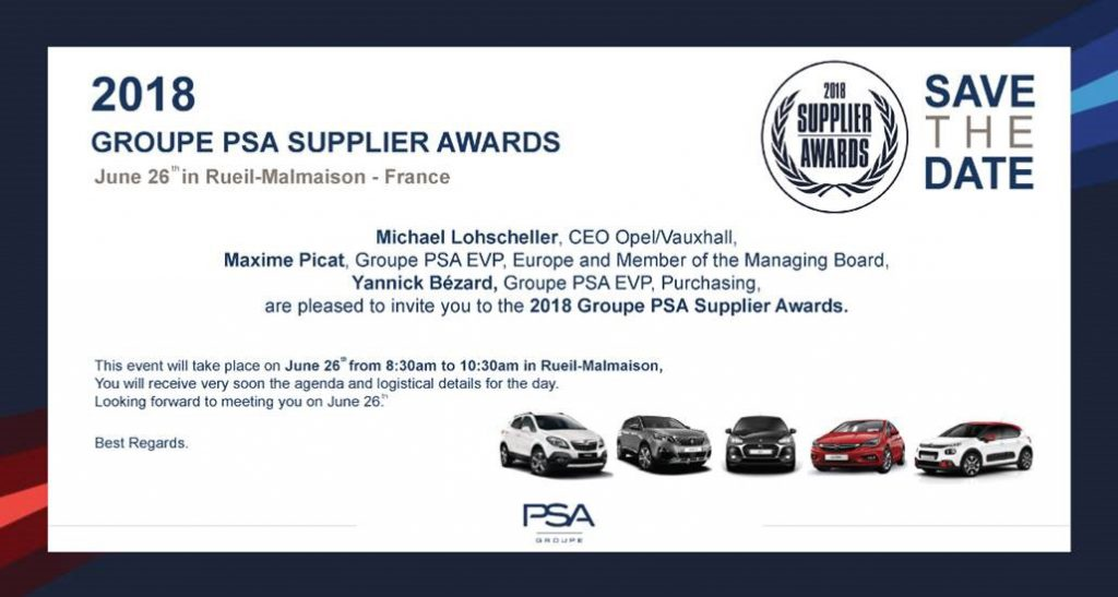 SUPPLIER AWARDS 2018